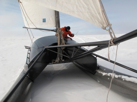 Sebastien Roubinet y su catamarán