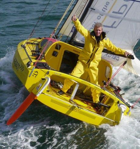 Aquí el feliz navegante Norbert Sedlacek